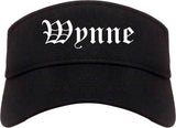 Wynne Arkansas AR Old English Mens Visor Cap Hat Black