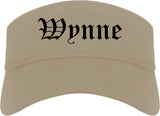 Wynne Arkansas AR Old English Mens Visor Cap Hat Khaki