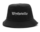 Wytheville Virginia VA Old English Mens Bucket Hat Black