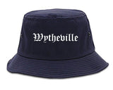 Wytheville Virginia VA Old English Mens Bucket Hat Navy Blue