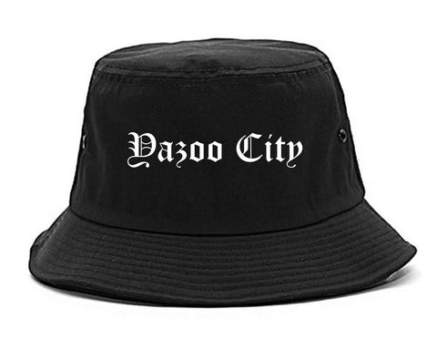 Yazoo City Mississippi MS Old English Mens Bucket Hat Black