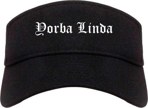 Yorba Linda California CA Old English Mens Visor Cap Hat Black