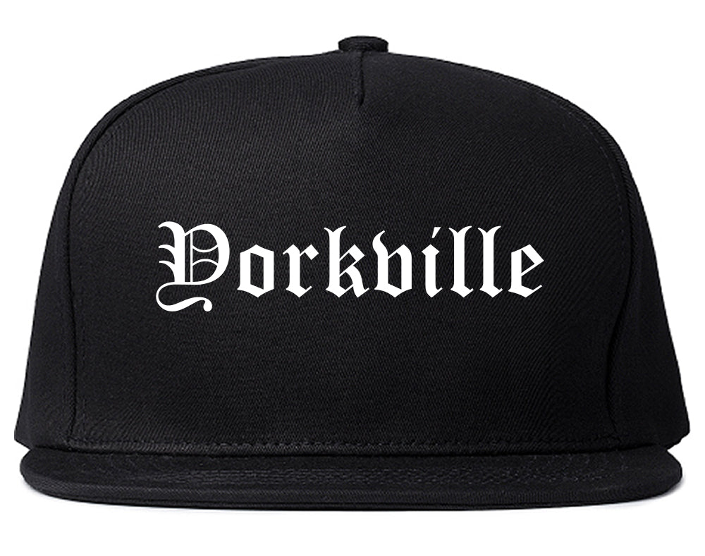 Yorkville Illinois IL Old English Mens Snapback Hat Black