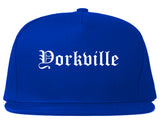 Yorkville Illinois IL Old English Mens Snapback Hat Royal Blue