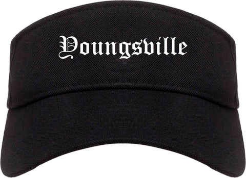 Youngsville Louisiana LA Old English Mens Visor Cap Hat Black