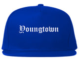 Youngtown Arizona AZ Old English Mens Snapback Hat Royal Blue