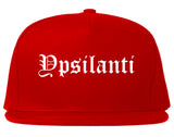 Ypsilanti Michigan MI Old English Mens Snapback Hat Red