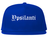 Ypsilanti Michigan MI Old English Mens Snapback Hat Royal Blue