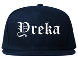 Yreka California CA Old English Mens Snapback Hat Navy Blue