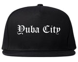 Yuba City California CA Old English Mens Snapback Hat Black