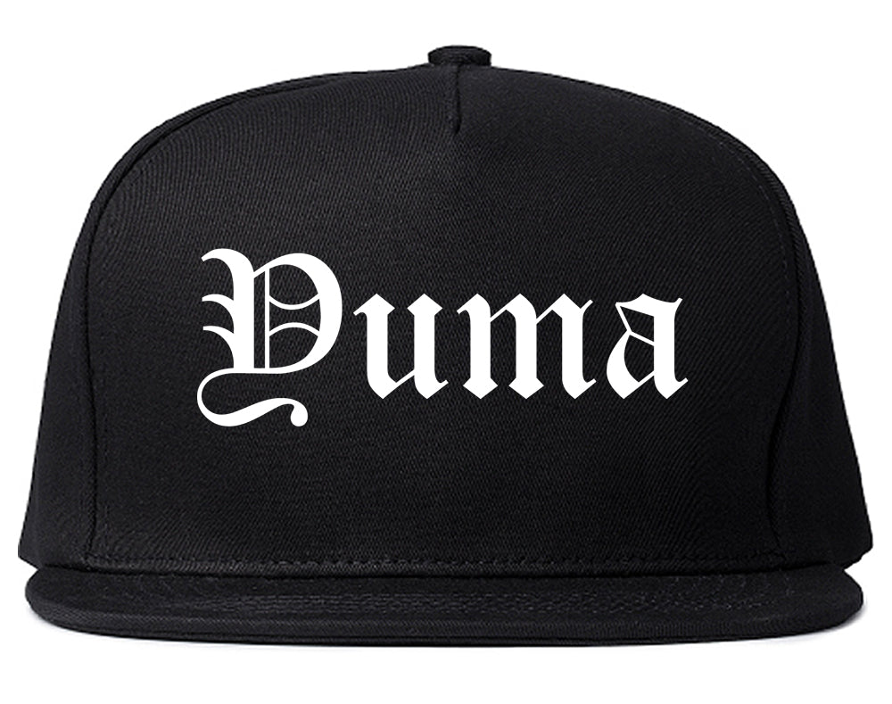 Yuma Arizona AZ Old English Mens Snapback Hat Black