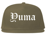 Yuma Arizona AZ Old English Mens Snapback Hat Grey