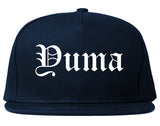 Yuma Arizona AZ Old English Mens Snapback Hat Navy Blue
