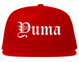 Yuma Arizona AZ Old English Mens Snapback Hat Red