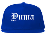 Yuma Arizona AZ Old English Mens Snapback Hat Royal Blue