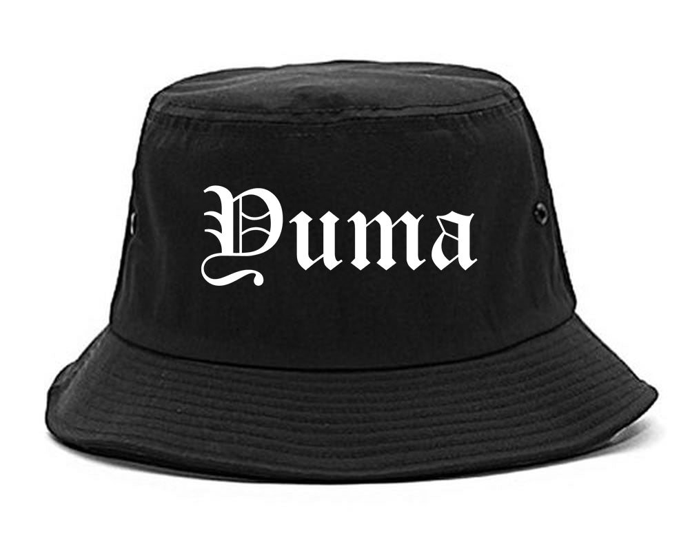 Yuma Arizona AZ Old English Mens Bucket Hat Black
