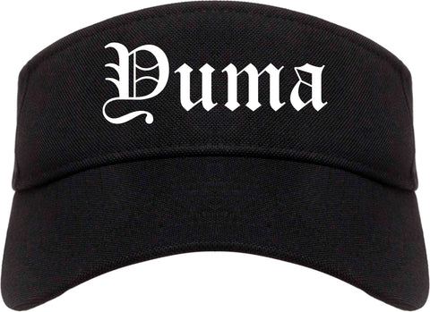 Yuma Arizona AZ Old English Mens Visor Cap Hat Black