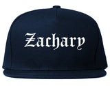 Zachary Louisiana LA Old English Mens Snapback Hat Navy Blue