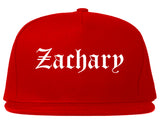 Zachary Louisiana LA Old English Mens Snapback Hat Red