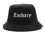 Zachary Louisiana LA Old English Mens Bucket Hat Black