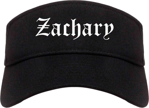 Zachary Louisiana LA Old English Mens Visor Cap Hat Black