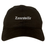 Zanesville Ohio OH Old English Mens Dad Hat Baseball Cap Black