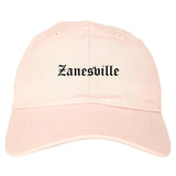 Zanesville Ohio OH Old English Mens Dad Hat Baseball Cap Pink