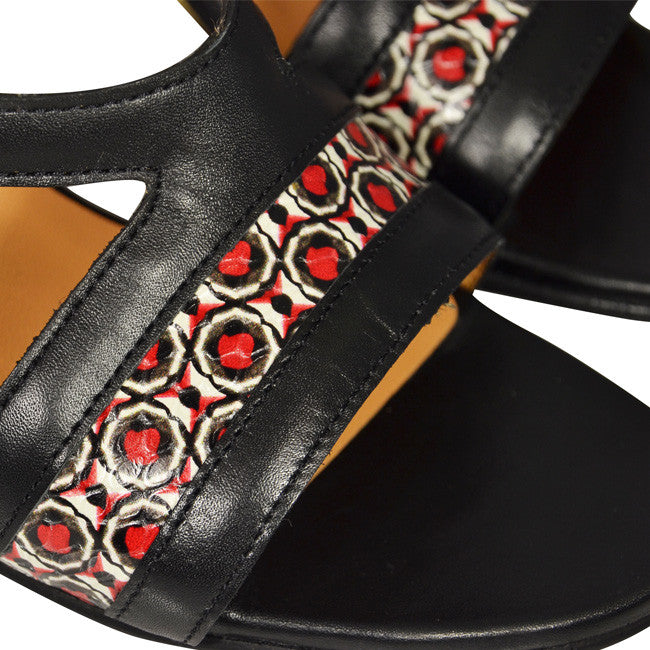 ANA Black, Mirot & Red Calfskin