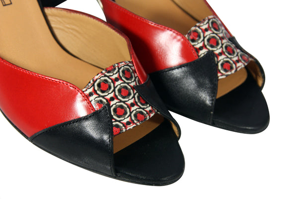 BLONDIE Black, Mirot & Red Calfskin