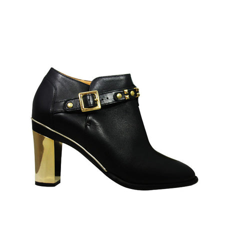 DOREEN Black Calfskin