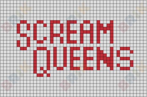 Scream Queens Pixel Art