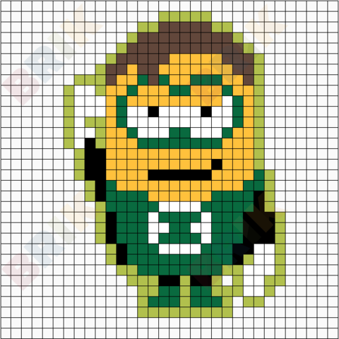Minion Green Lantern Pixel Art