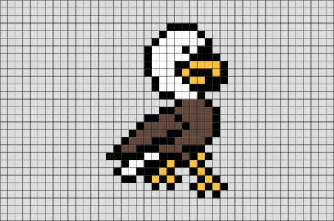 Bald Eagle Pixel Art Brik