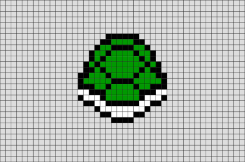 Turtle Shell Pixel Art