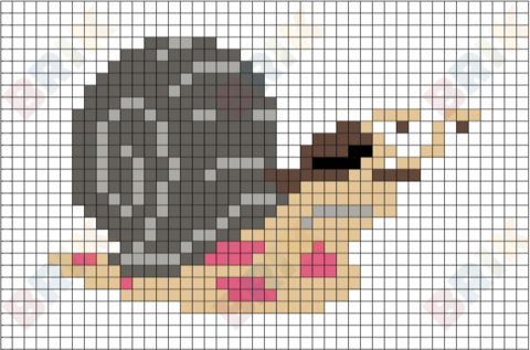 Sergei the Snail Pixel Art
