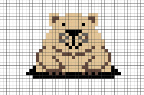 Prairie Dog Pixel Art