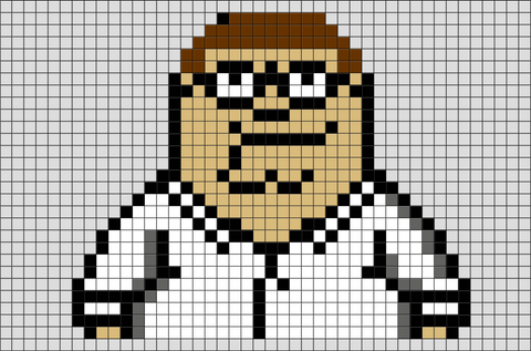 Family Guy Peter Griffin Pixel Art