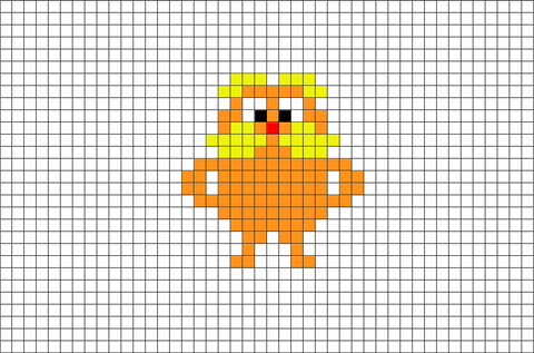 The Lorax Pixel Art