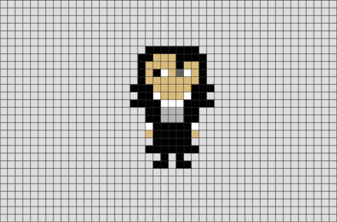 Harry Potter Professor Severus Snape Pixel Art
