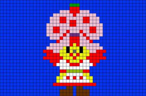 Strawberry Shortcake Pixel Art