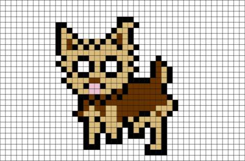 Yorkshire Terrier Pixel Art