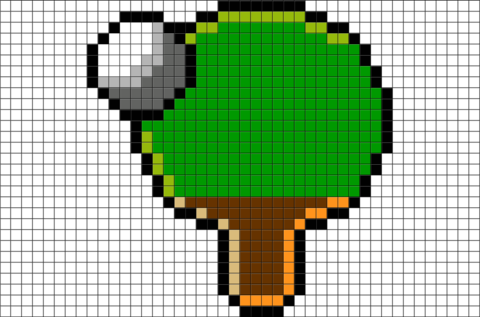 Table Tennis Pixel Art