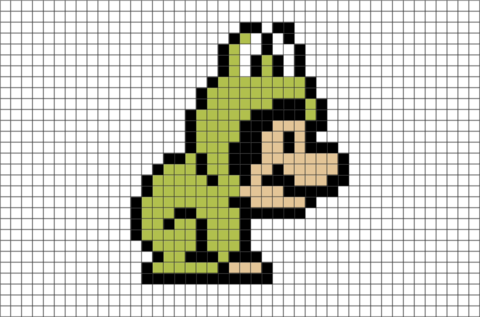 Super Mario Frog Suit Pixel Art