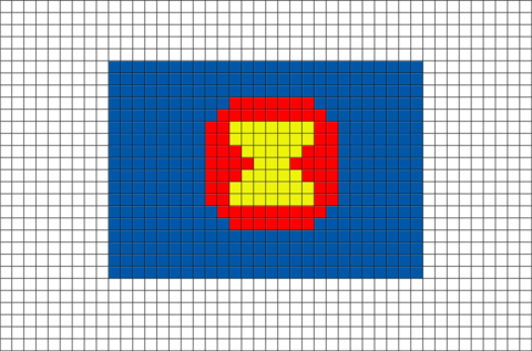 Flag of ASEAN Pixel Art