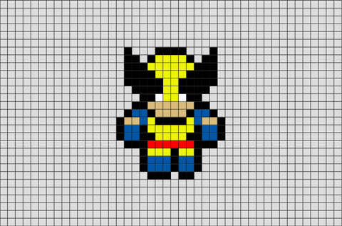 X-Men Wolverine Pixel Art