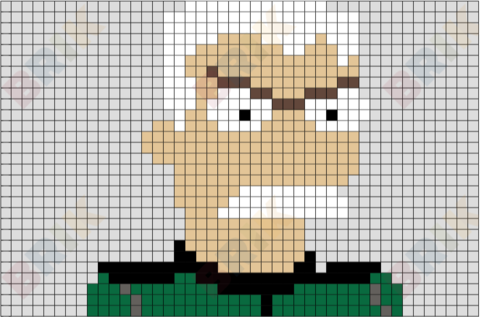 Major Francis Monogram Pixel Art