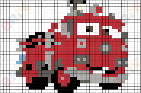 Red Pixel Art