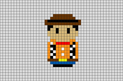 Woody Toy Story Pixel Art