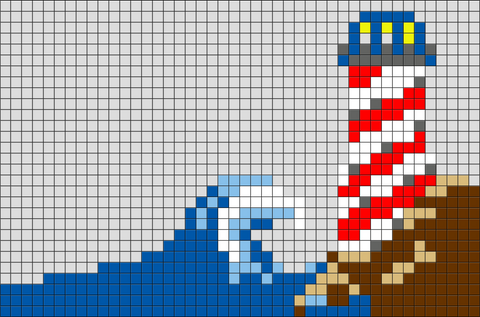 Lighthouse Pixel Art