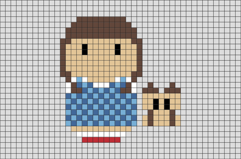 Wizard of Oz Dorothy Pixel Art